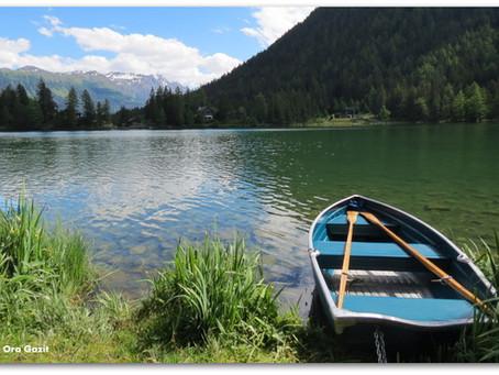 כפרים, אגם ושפעת - טרק סובב מון בלאן - יום 7