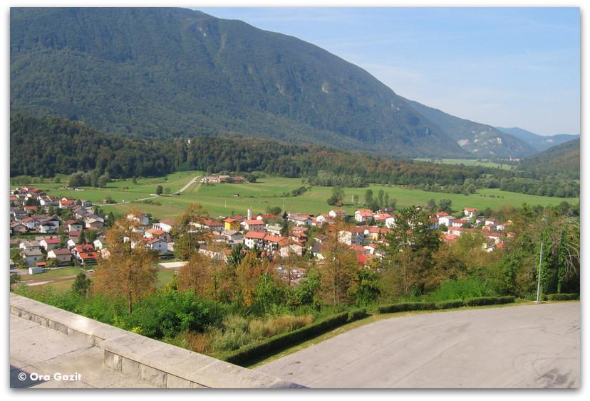 תצפית על עמק הסוצ'ה, סלובניה