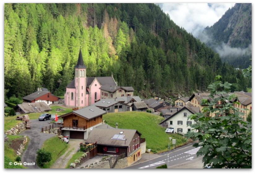כפר, שוויץ - טרק - סובב מון בלאן - יומן מסע