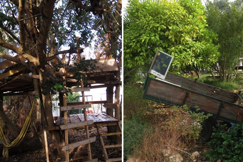 גינה ובית על עץ - התנדבות - חאן יותם