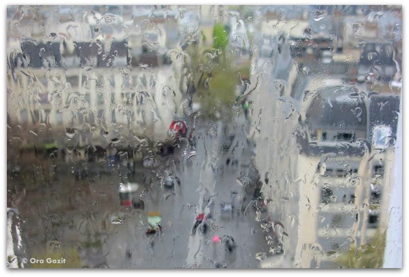 העיר מבעד לגשם, מרכז פומפידו, פריז