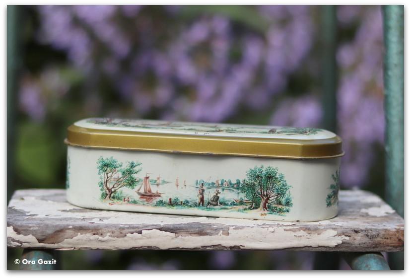 """קופסאות פח וינטג' - מזכרת מהולנד - מזכרות מטיול בחו""""ל"""
