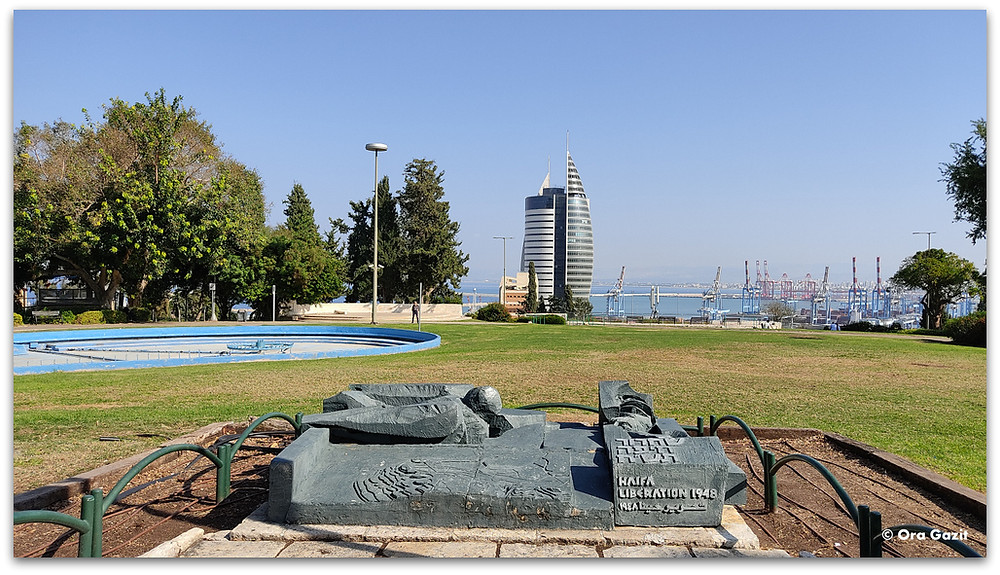 גן הזכרון חיפה - תצפיות בחיפה - דרך נוף חיפה