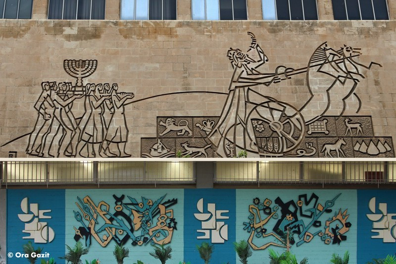 תבליט - בית הכנסת הגדול - אמנות רחוב - אטרקציות בחיפה