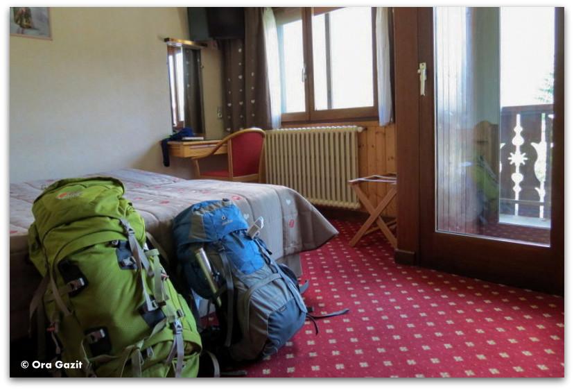 חדר באכסניה - טרק - סובב מון בלאן