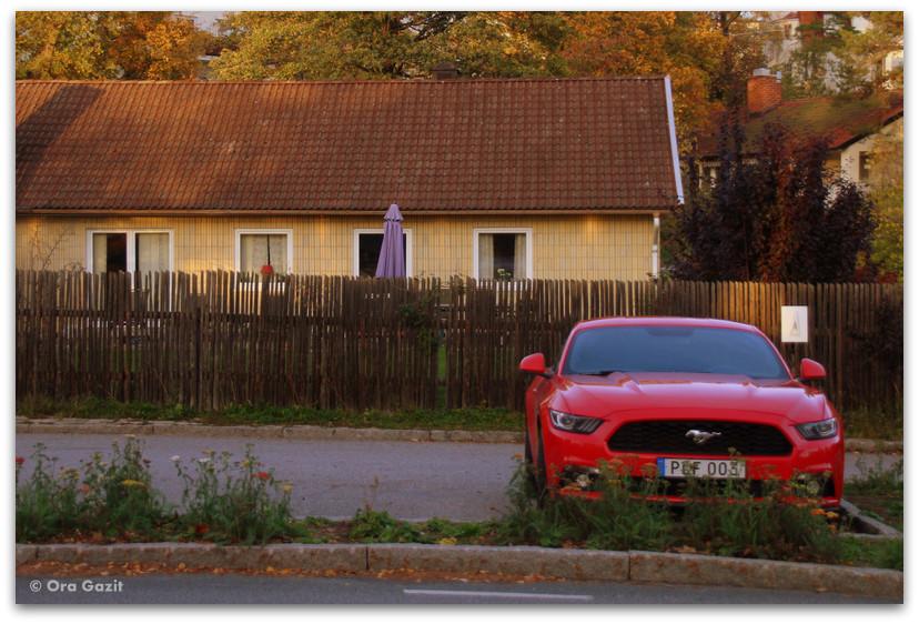 מכונית אדומה - שטוקהולם
