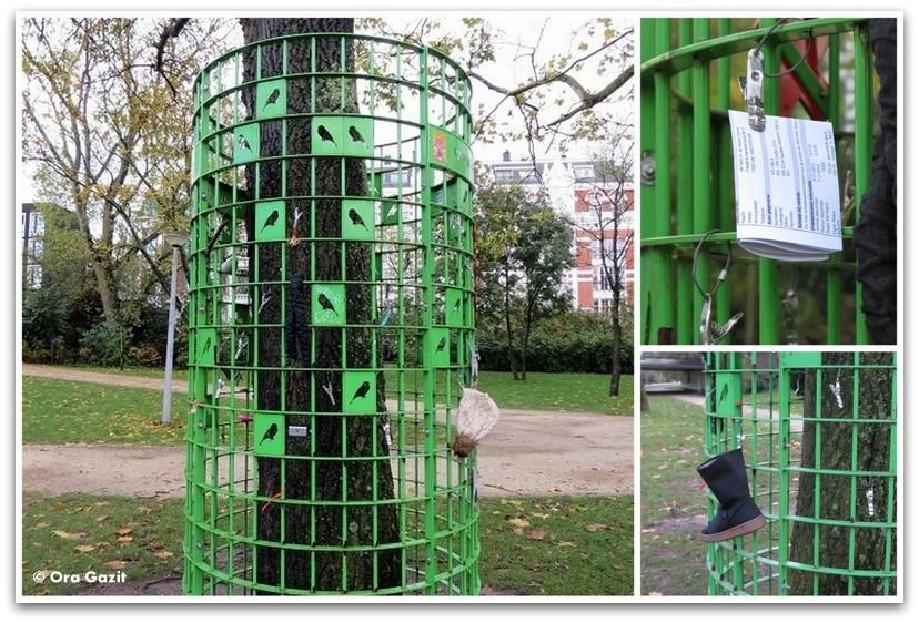 לוח מודעות מאולתר, וונדלפארק, אמסטרדם