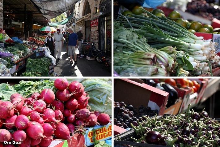 ירקות - ואדי ניסנאס אוכל - שביל חיפה - טרק - טיול בחיפה