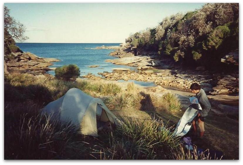 אוהל על החוף - טרק - טיול לאוסטרליה