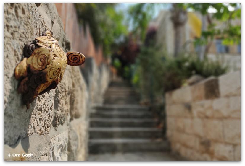 פסל של צב - כפר האמנים עין הוד - חנויות עיצוב - בוידם