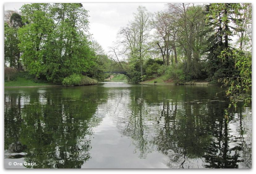 אגם, השתקפויות, יער בולון, פריז