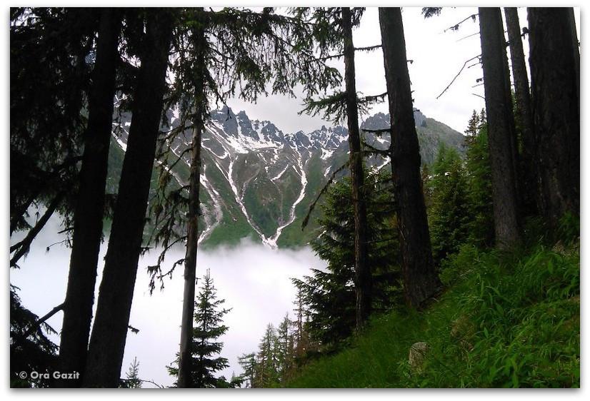 נוף הרים - טרק - סובב מון בלאן - יומן מסע