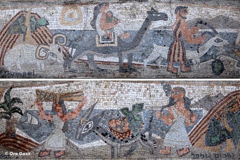 אברהם יורד מצריימה - פסיפס - אמנות רחוב - אטרקציות בחיפה