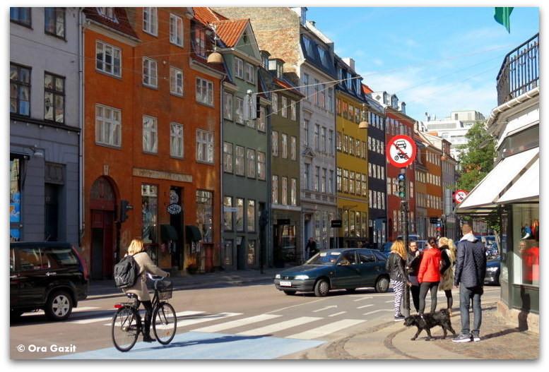 בתים צבעוניים - טיול עם ילדים בחול, קופנהגן