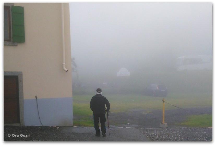 איש הולך בערפל - טרק - סובב מון בלאן - יומן מסע