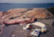 אשה על חוף הים, נורבגיה - יומן מסע - טיול אחרי צבא