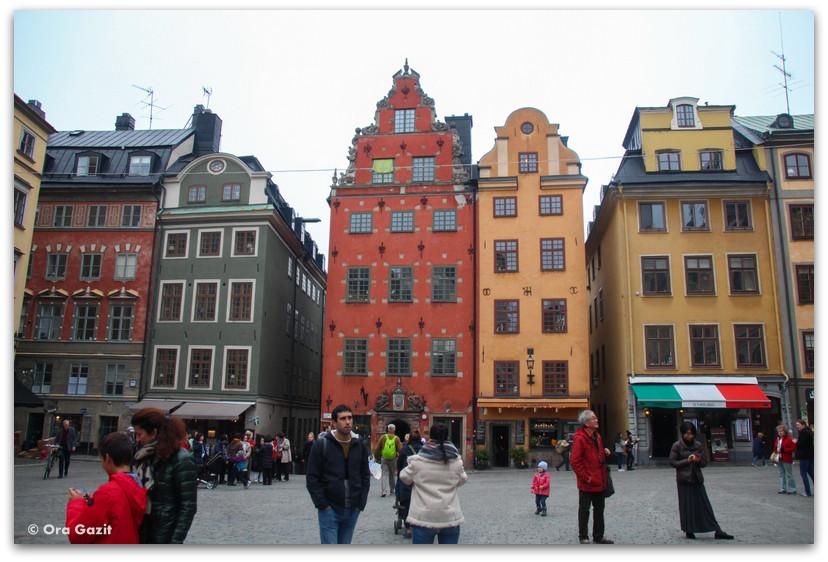 בתים צבעוניים  - העיר העתיקה - שטוקהולם