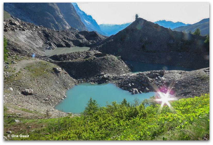 אגם - טרק - סובב מון בלאן - יומן מסע