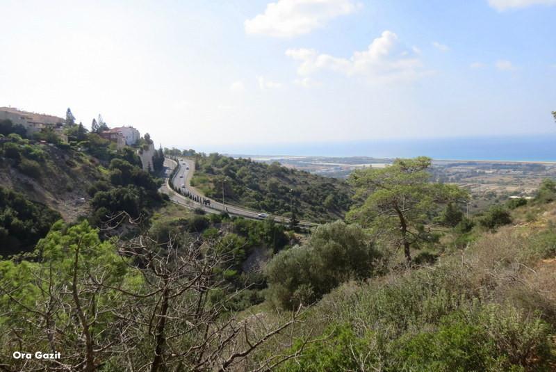 תצפית לדרום-מערב - שביל חיפה - טרק - טיול בחיפה