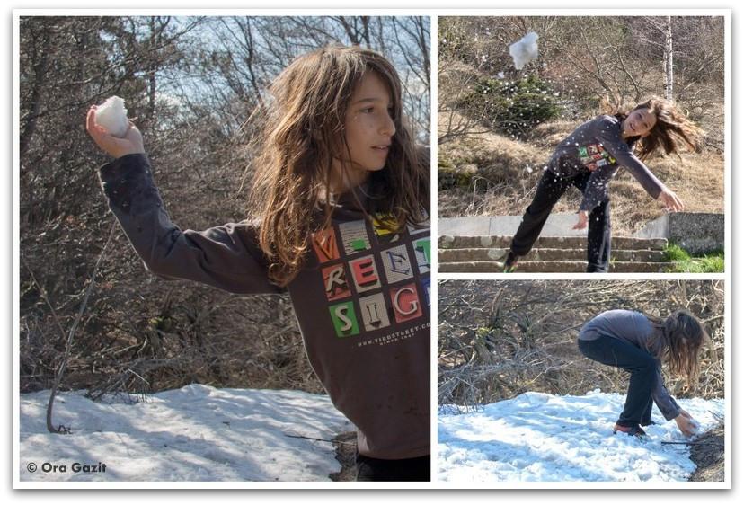 ילד משחק בשלג - בולגריה - טיול עם ילדים בחול