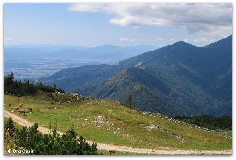 תצפית, נוף הררי, סלובניה