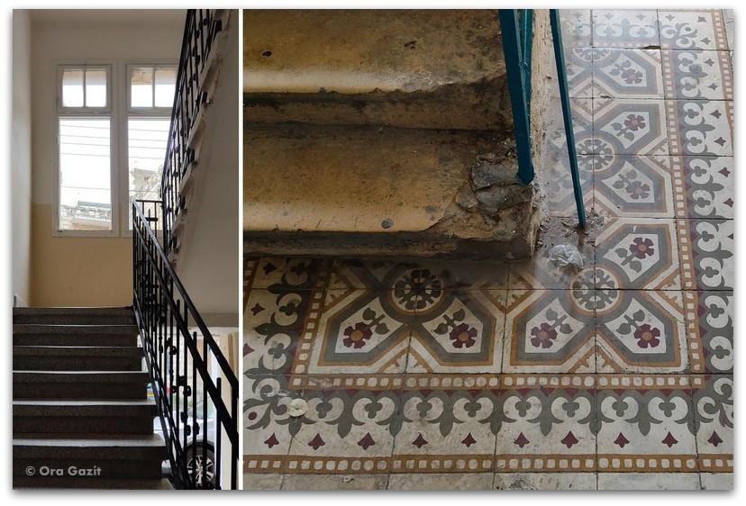 חדר מדרגות - רחובות בהדר - שמות רחובות בחיפה - טיול בחיפה