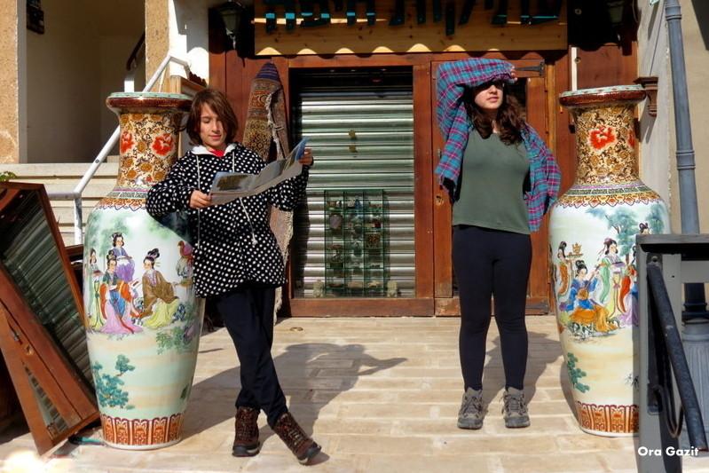 הילדים מוכנים לצאת לדרך - שביל חיפה - טרק - טיול בחיפה