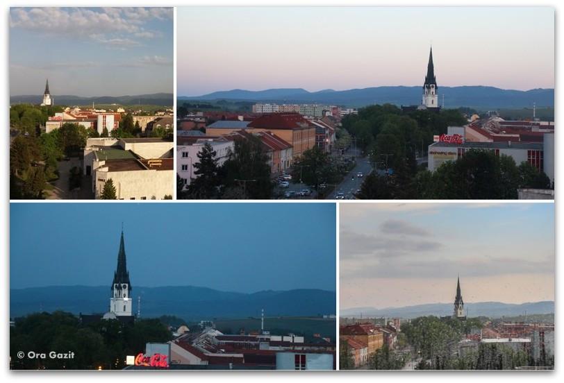 עיירה וכנסיה - סלובקיה