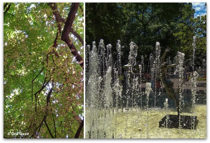 סופיה בולגריה - טיול עירוני - טבע עירוני - פארק בסופיה - מזרקה