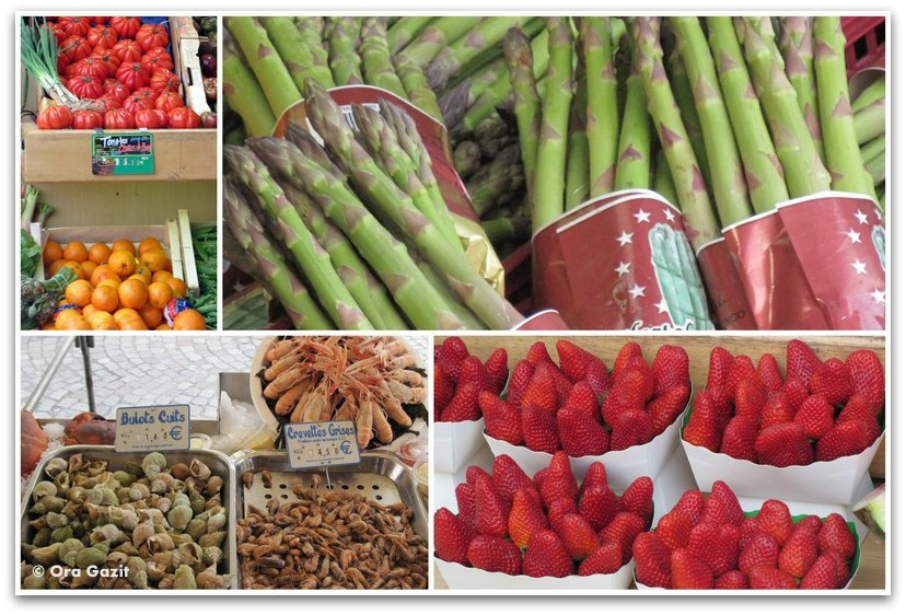 פירות וירקות בשוק, מונמרטר, פריז