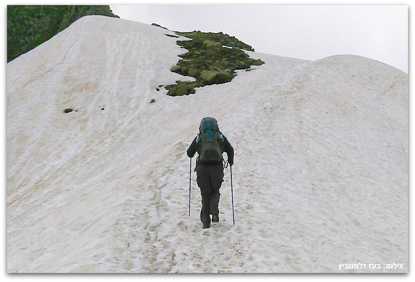 הליכה בשלג - טרק - סובב מון בלאן - יומן מסע