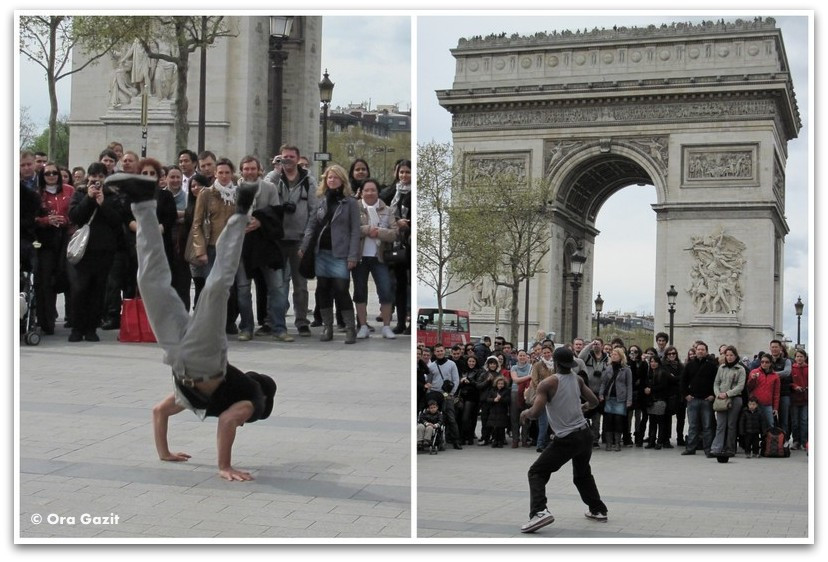 מופע רחוב, שער הניצחון, פריז