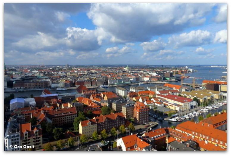 תצפית על העיר - טיול עם ילדים בחול, קופנהגן