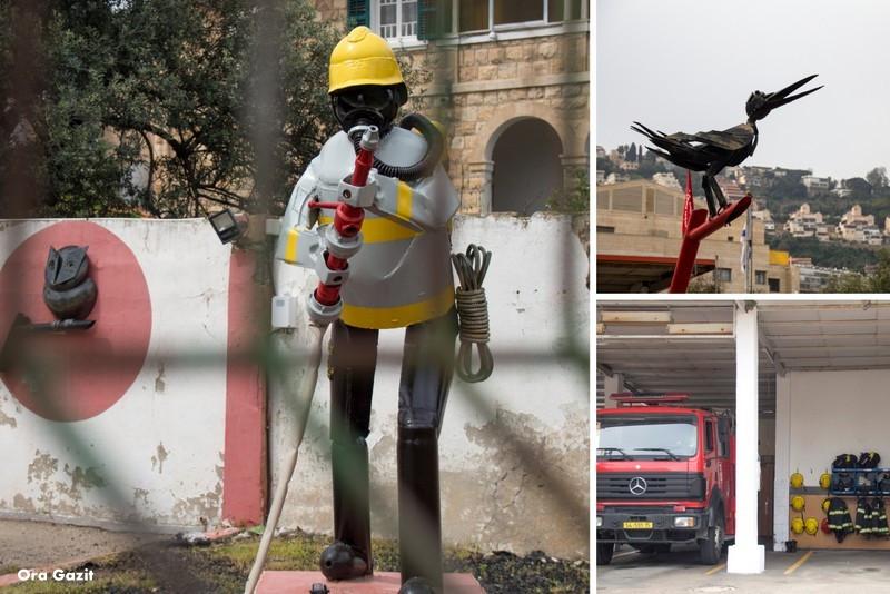 בתחנת מכבי האש - שביל חיפה - טרק - טיול בחיפה