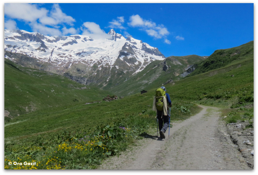 איש צועד באלפים הצרפתיים - טרק - סובב מון בלאן