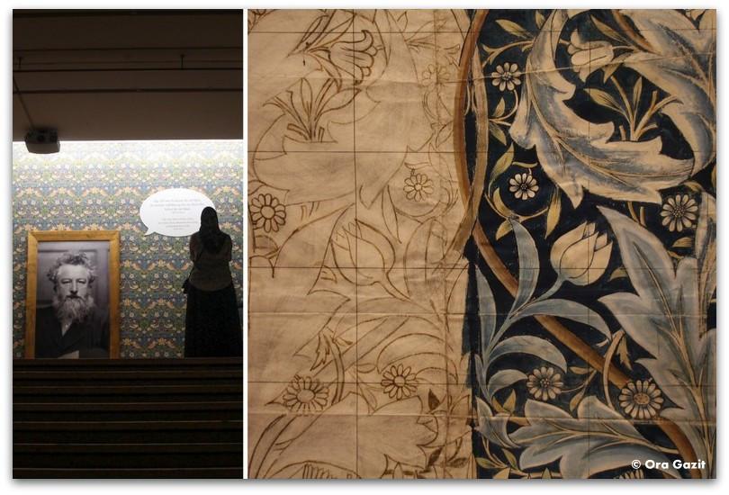 פרט מעיצוב לטקסטיל ויליאם מוריס - שטוקהולם
