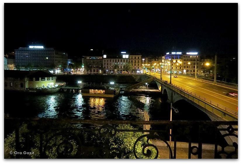 העיר בלילה - ז'נבה - אטרקציות בחינם