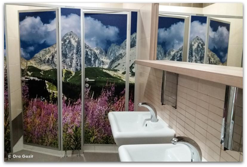 שירותים בעיצוב אלפיני - הרי הטטרה  - טרק - סלובקיה