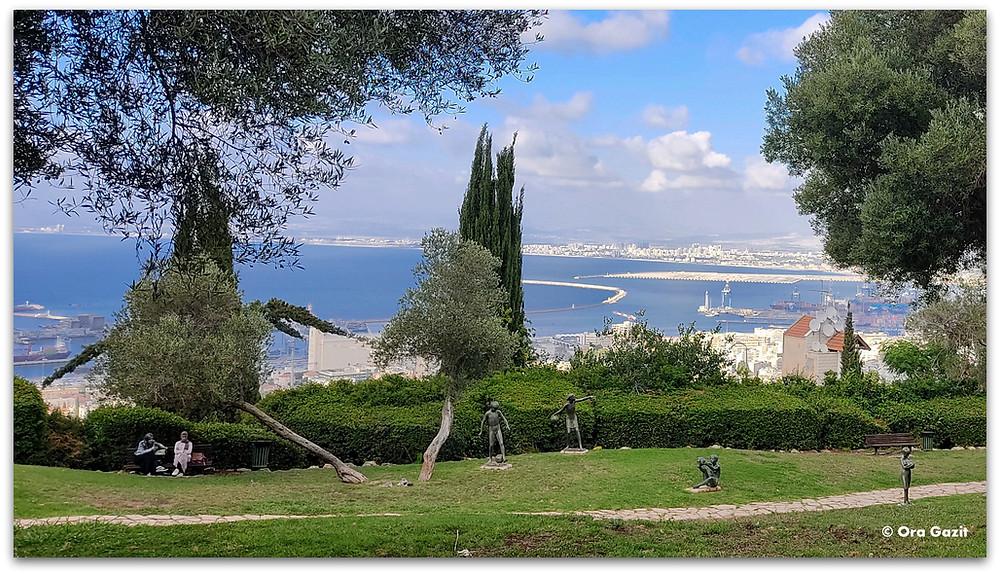 גן הפסלים חיפה - דרך נוף חיפה - תצפיות בחיפה