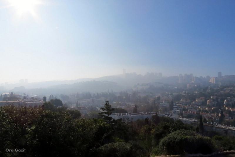 תצפית מגבעת השבשבת - נווה שאנן - שביל חיפה - טרק - טיול בחיפה