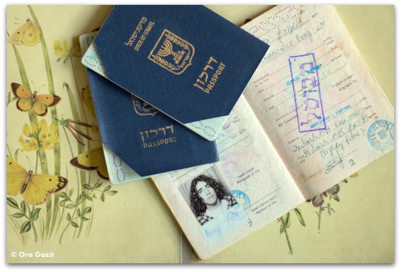דרכונים ישנים - חפצים - זכרונות - שריפה בחיפה