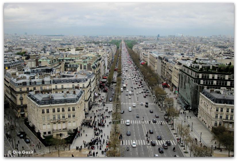 שער הניצחון, תצפית, פריז