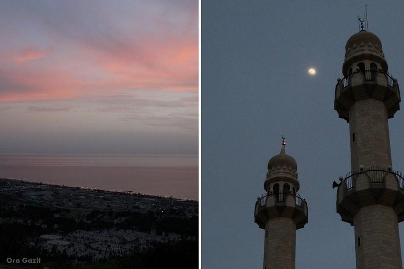 מסגד מחמוד בשקיעה - שביל חיפה - טרק - טיול בחיפה