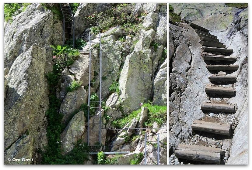 סולמות ומדרגות - טרק - סובב מון בלאן - יומן מסע