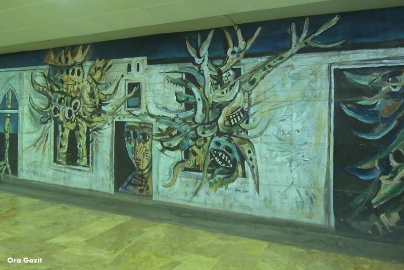ציור של יוסל בירגנר - אוניברסיטת חיפה - שביל חיפה - טרק - טיול בחיפה