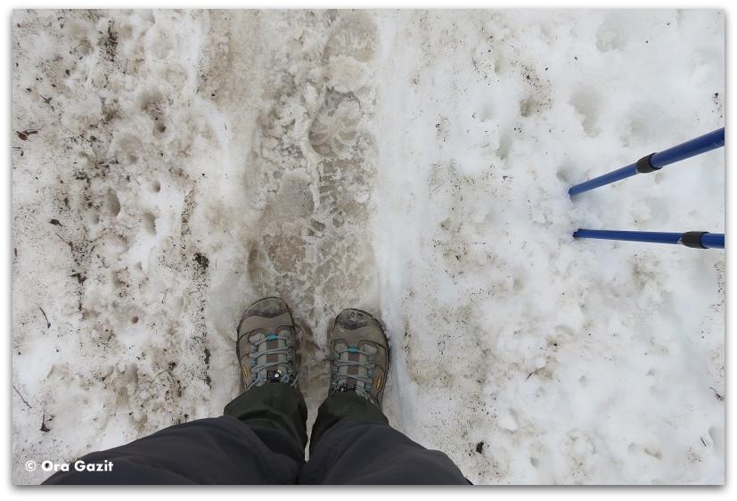 נעליים בשלג - טרק - סובב מון בלאן