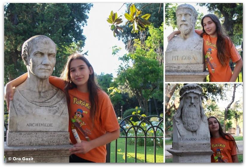 פסלים של מפורסמים - רומא עם ילדים, איטליה