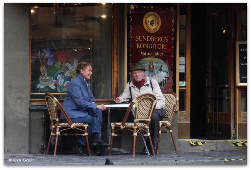 זוג בבית קפה - העיר העתיקה - שטוקהולם