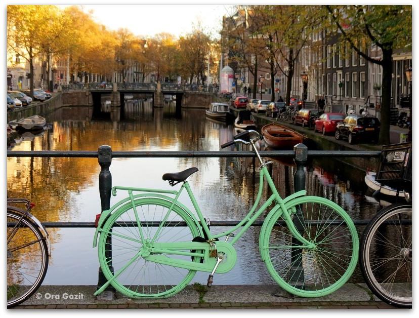 אופניים על גשר - זכרונות - אמסטרדם