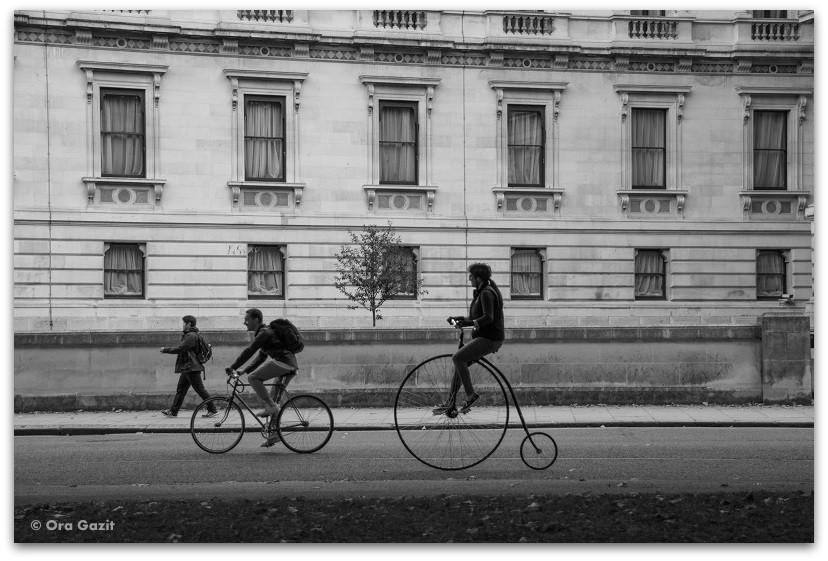 רוכבי אופניים - לונדון - יומן מסע